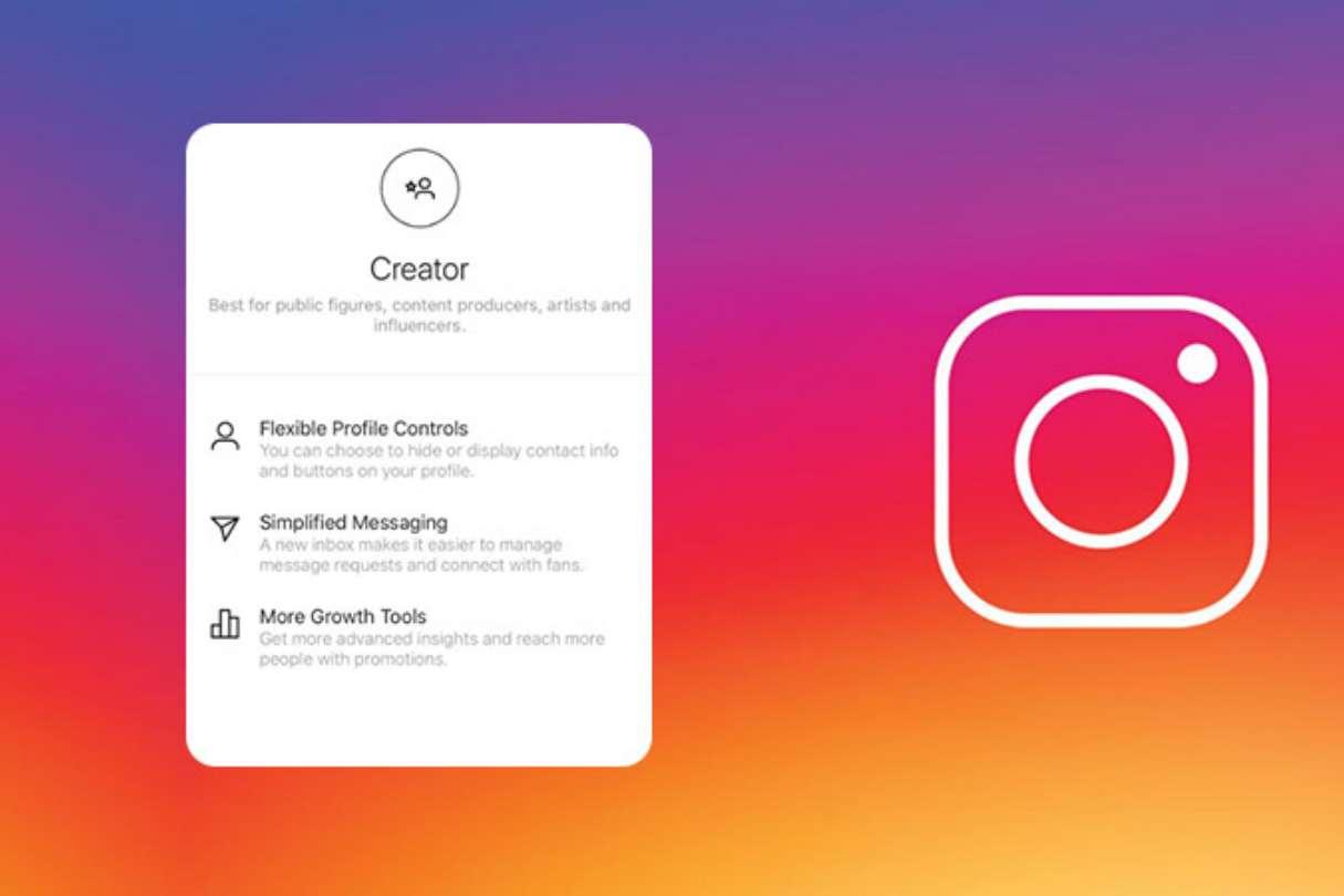 instagram creator fiók