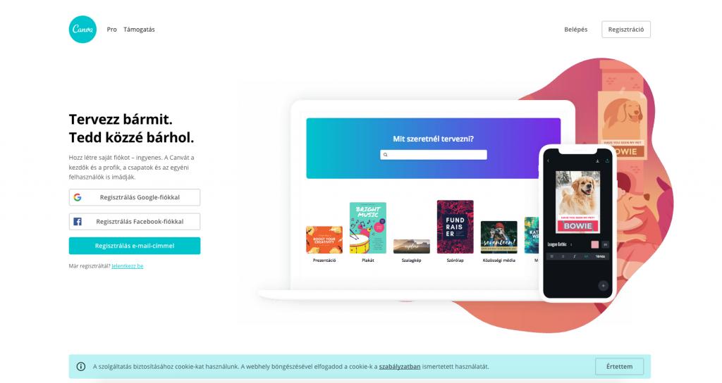 Canva - online képszerkesztő app