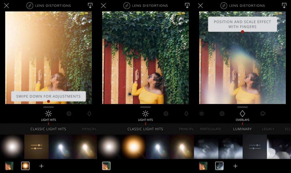 Lens Distortions képszerkesztő applikáció mobilra