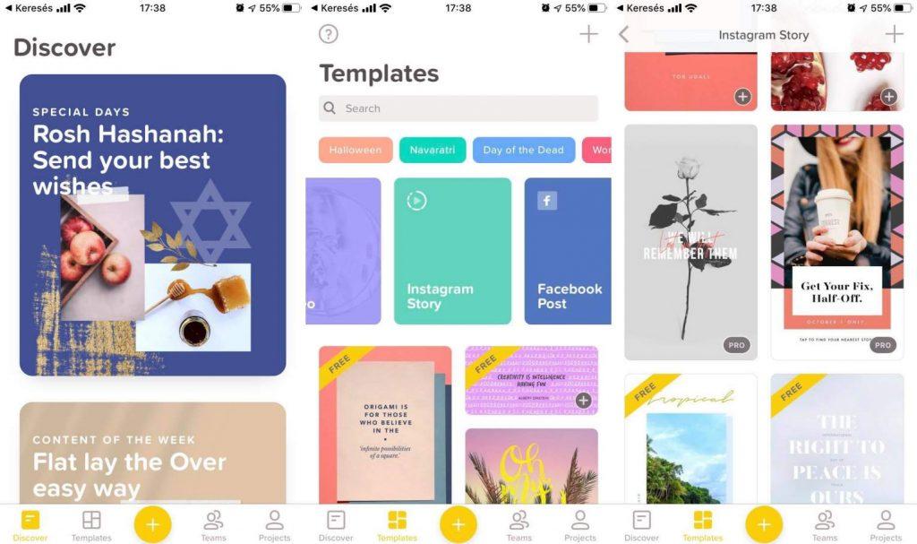 Over kép és sajtóanyag szerkesztő app telefonra