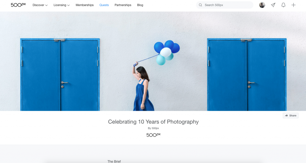 Celebrating 10 Years of Photography quest open page
