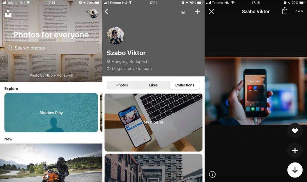 unsplash mobile app cikk magyarul