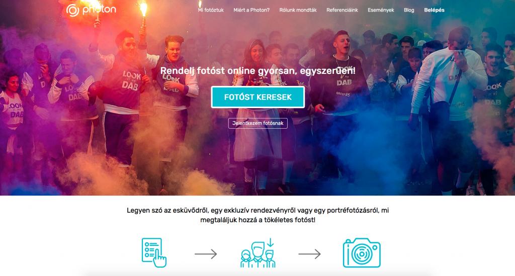 the photon.hu ügyfélszerő magyar weboldal