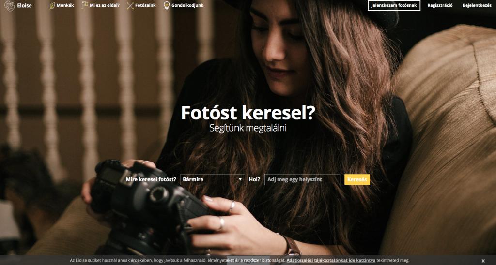 eloise.cc weboldal fotósoknak - vajon ezzel könnyebb lesz a fotós ügyfélszerzés