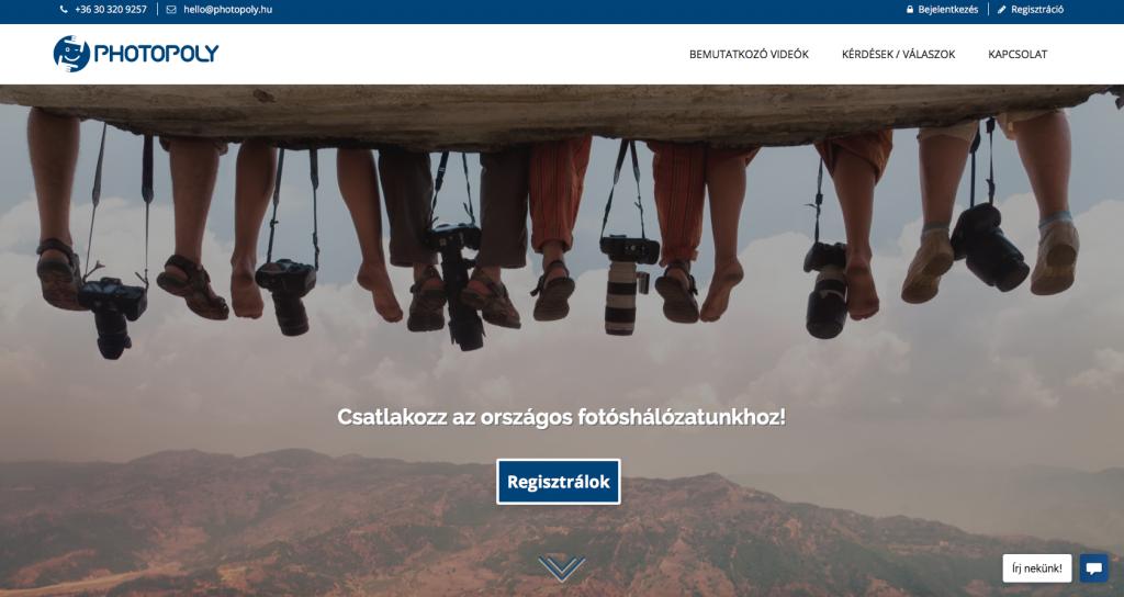 photopoly.hu ügyfélszerzésre használt fotós weboldal