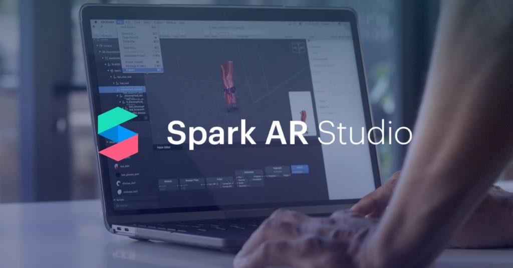Spark AR studio, ebben készültnek az instagram és a facebook story effektek.