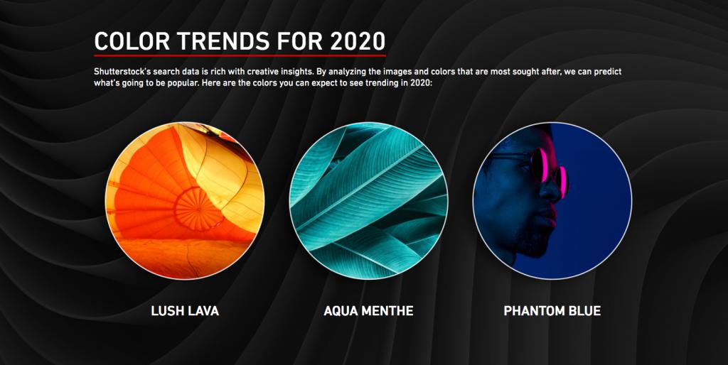 A népszerű stock fotó oldal szerint ezek lesznek az év színei 2020-ban!