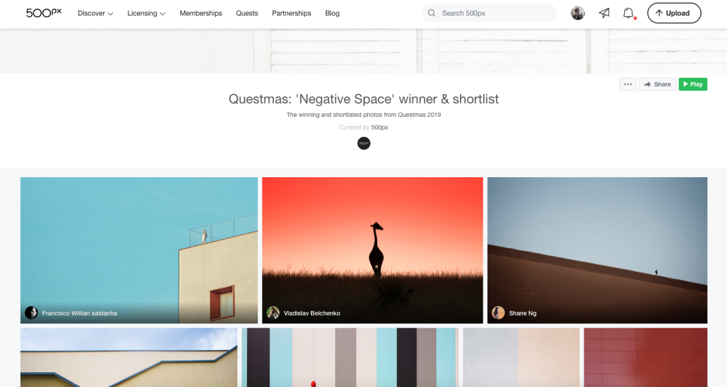 Questmas: 'Negative Space' winner & shortlist