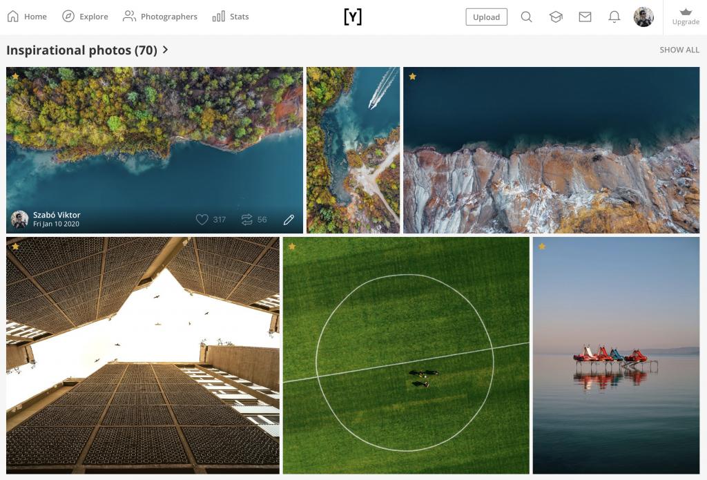 Szabó Viktor Deep water sorozatából kiemelt három fotó a Youpic oldalán.