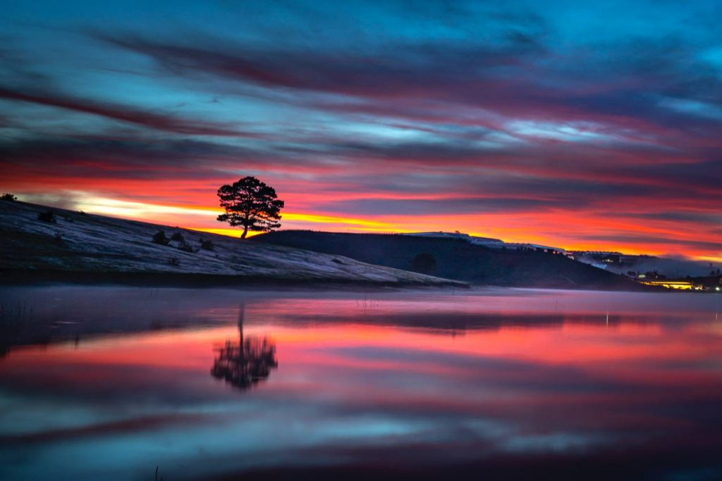 hosszú expozíciós fotózás naplementében